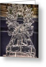 Christmas Wreath Ice Sculpture Greeting Card