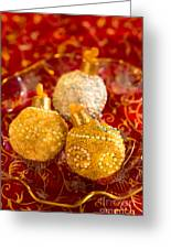 Christmasball Cupcakes In Red Greeting Card