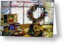 Christmastime Folk Art Fantasia Greeting Card