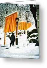 Christo - The Gates - Project For Central Park In Snow Greeting Card