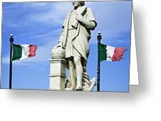 Christopher Columbus Baltimore  Statue Greeting Card