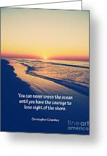 Christopher Columbus Quote Greeting Card