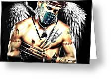 Christy Angel Mask Greeting Card
