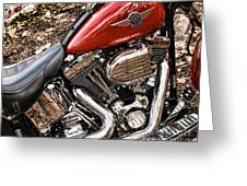 Chrome And Red Greeting Card