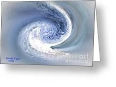 Chrome Hurricane Greeting Card by Jeffery Fagan