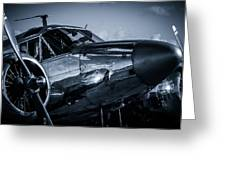 Chrome Twin-engined Beauty Greeting Card