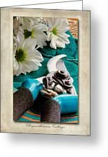 Chrysanthemum Cuttings Greeting Card by John Edwards