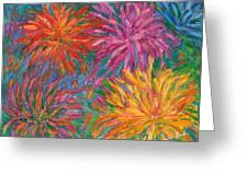 Chrysanthemums Like Fireworks Greeting Card