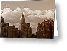 Chrysler Building And The New York City Skyline Greeting Card