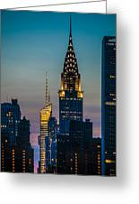 Chrysler Building At Sunset Greeting Card