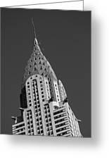 Chrysler Building Bw Greeting Card