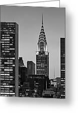 Chrysler Building New York City Bw Greeting Card