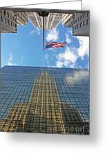 Chrysler Building Reflections Vertical 1 Greeting Card