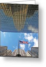 Chrysler Building Reflections Vertical 2 Greeting Card