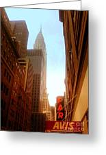 Chrysler Building Rises Above New York City Canyons Greeting Card