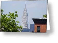 Chrysler Building View Greeting Card