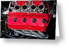 Chrysler Fire Power Greeting Card