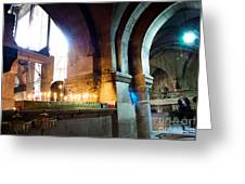 Chuch Of The Holy Sepulchre In Jerusalem Greeting Card