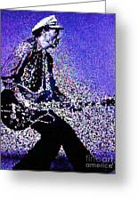 Chuck Berry Rocks Abstract Greeting Card