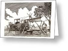 Chuckwagon Cattle Drive Breakfast Greeting Card