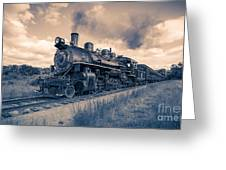 Full Steam Through The Meadow Greeting Card