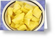 Chunks Of Pineapple Greeting Card