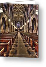 Church Aisle Greeting Card