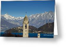 Church And Alps Greeting Card
