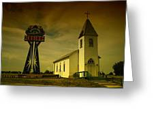 Church And Casino Those Two Angels  Greeting Card