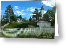 Church And Pickets Greeting Card