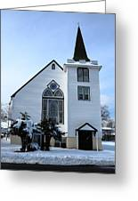 Paramus Nj - Church And Steeplechurch And Steeple Greeting Card
