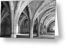 Church Archways In Black And White Greeting Card