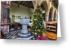 Church At Christmas V7 Greeting Card