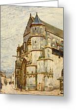 Church At Moret After The Rain Greeting Card