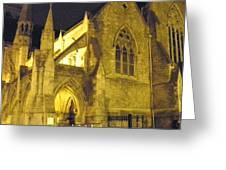 Church At Night Greeting Card