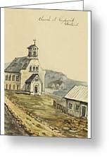 Church At Rejkjavik Iceland 1862 Greeting Card