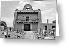 Church At San Ildefonso - Bw Greeting Card