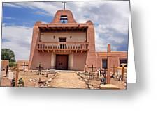 Church At San Ildefonso Greeting Card