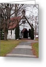 Church At The Lake Greeting Card