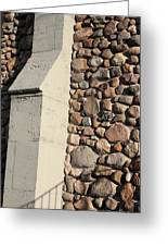 Church Buttress With Shadows Greeting Card