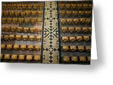 Church Chairs Greeting Card