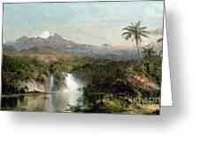 Church: Cotopaxi, 1857 Greeting Card