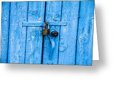 Church Door Blues Greeting Card