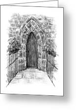 English Church Door Greeting Card