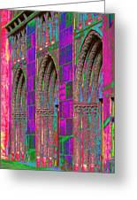 Church Doors Pop Art Greeting Card