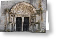 Church Entrance - St  Thibault Greeting Card