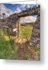 Church Gate Greeting Card by Adrian Evans