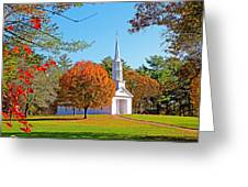 Church In Autumn Greeting Card
