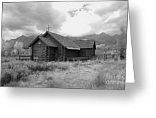 Church In Black And White Greeting Card