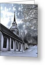 Church In Kuusamo Finland Greeting Card